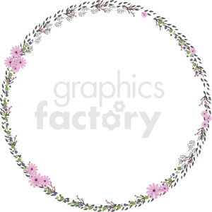 floral wreath vector clipart clipart. Commercial use image # 412624
