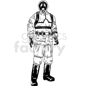 hazmat suit vector clipart clipart. Commercial use image # 412641