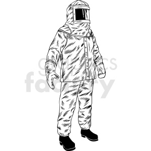 man in hazmat suit vector clipart clipart. Royalty-free image # 412646