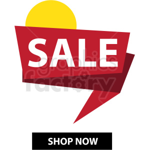 sale notification banner icon vector clipart clipart. Commercial use image # 412686