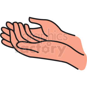 open hand vector clipart clipart. Commercial use image # 412760