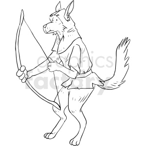 dog archer vector tattoo design clipart. Royalty-free image # 412762