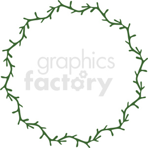 branch wreath frame vector clipart clipart. Royalty-free image # 412783