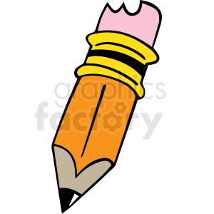 cartoon pencil vector clipart. Royalty-free image # 412868