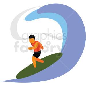 surfer vector clipart icon clipart. Commercial use image # 412962