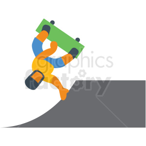 skateboarder vector icon clipart. Commercial use image # 412963