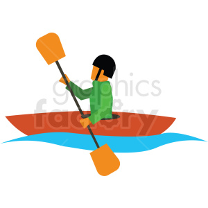 kyaking vector clipart icon clipart. Commercial use image # 412977