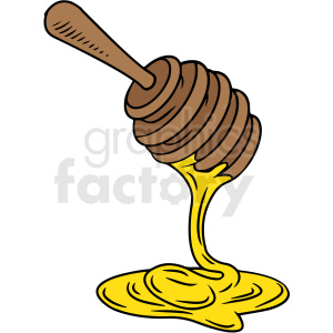 cartoon honey stick vector clipart clipart. Royalty-free image # 412995