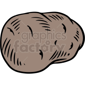 baked potatoe vector clipart clipart. Royalty-free image # 412996