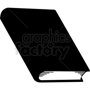 black and white book design vector clipart