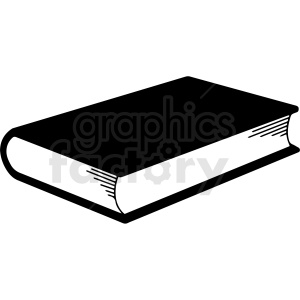 black and white book vector clipart clipart. Royalty-free image # 413002