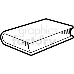 clipart - black and white book outline vector clipart.