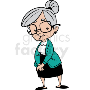 cartoon grandma vector clipart