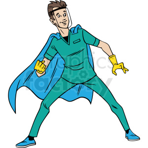 cartoon doctor hero vector clipart clipart. Royalty-free image # 413264