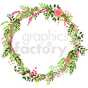 floral wreath frame vector clipart clipart. Commercial use image # 413281