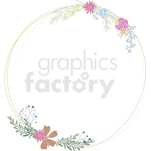 flower frame vector clipart