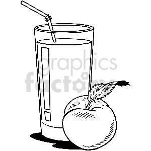black and white peach juice vector clipart clipart. Commercial use image # 413311