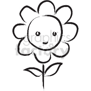 black and white tattoo flower vector clipart