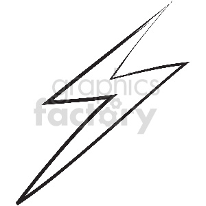 black and white tattoo lightning vector clipart clipart. Royalty-free image # 413341