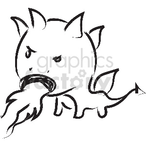 black and white tattoo dragon vector clipart clipart. Royalty-free image # 413365