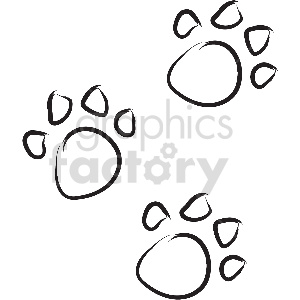 black and white tattoo paw print vector clipart clipart. Commercial use image # 413371