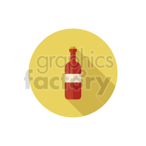 red bottle icon clipart. Commercial use image # 413411