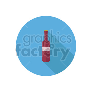 wine bottle icon clipart. Commercial use image # 413424