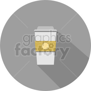 coffe cup on gray circle background vector clipart. Commercial use image # 413425