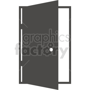 open door vector clipart 2 clipart. Commercial use image # 413460