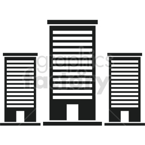 office building vector clipart 4