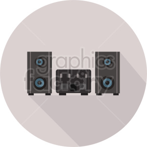 stereo vector icon graphic clipart 1