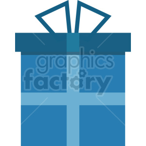 blue present vector graphic clipart clipart. Commercial use image # 413735