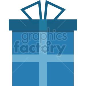 blue present vector graphic clipart