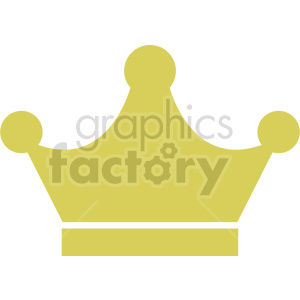 yellow crown vector graphic clipart no background