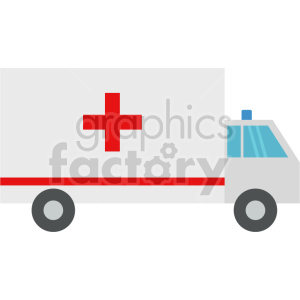 ambulance truck vector icon graphic clipart no background clipart. Commercial use image # 413787