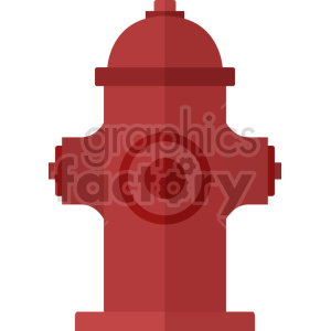 red fire hydrant vector icon clipart clipart. Commercial use image # 413856