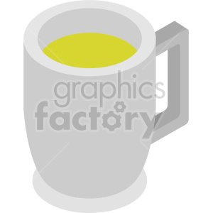 glass of beer isometric vector clipart icon