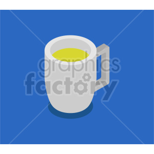 beer glass isometric vector clipart icon clipart. Commercial use image # 413955