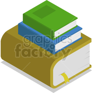 isometric books vector icon clipart 6
