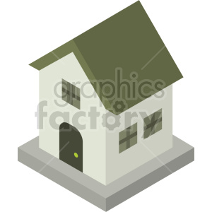 isometric house vector icon clipart 4 clipart. Commercial use image # 414029