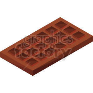 isometric chocolate vector icon clipart