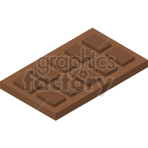 isometric chocolate bar vector icon clipart clipart. Commercial use image # 414073