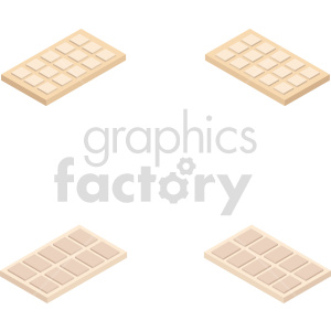 isometric white chocolate vector icon clipart bundle clipart. Commercial use image # 414087