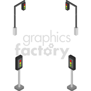 isometric traffic light vector icon clipart 2 clipart. Commercial use image # 414107