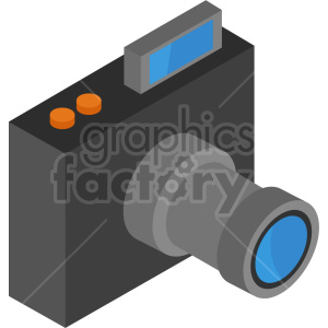 isometric camera vector icon clipart 2 clipart. Commercial use image # 414108