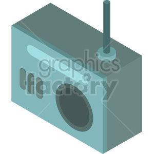 isometric radio vector icon clipart 7