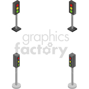 isometric traffic light vector icon clipart 1 clipart. Commercial use image # 414152