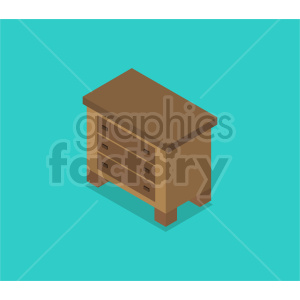 isometric dresser vector icon clipart 2 clipart. Commercial use image # 414166