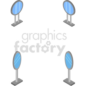 isometric mirror vector icon clipart 1 clipart. Commercial use image # 414168