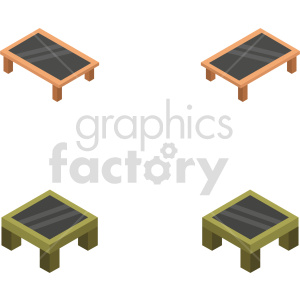isometric coffe table vector icon clipart 1 clipart. Commercial use image # 414173